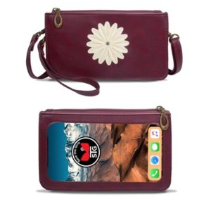 Boysenberry Traditional Daisy Purse