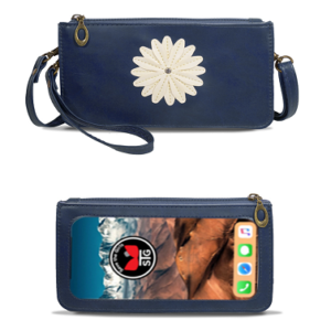 Dignity Blue Traditional Daisy Purse
