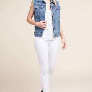 Blue Denim Vest with Stones