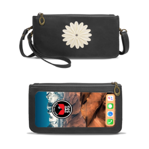 Midnight Black Traditional Daisy Purse