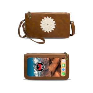 Rustic Brown Traditional Daisy Purse
