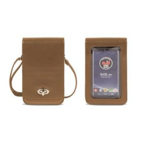 Brown Classic Elegance Cell Phone Purse