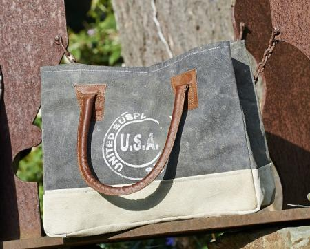 USA Stamped Canvas Handbag