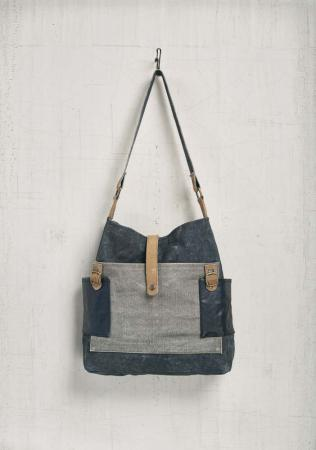 Chambray Canvas Tote Bag