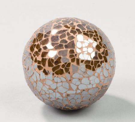 All that Glitters - Brown Mosaic Glass Balls