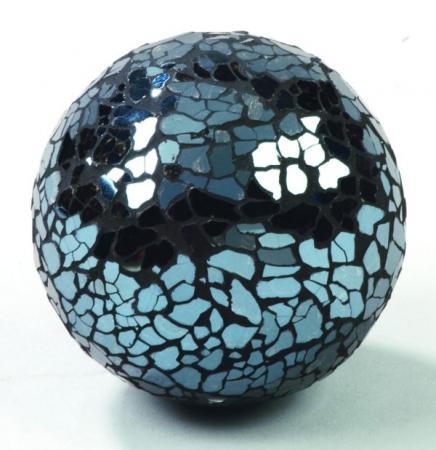 All that Glitters - Dark Blue Mosaic Glass Ball