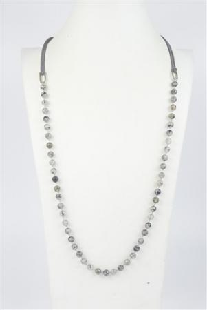 Grey Bead Necklace Set