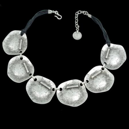 Turkish Antique Silver Pewter Stonehenge Necklace