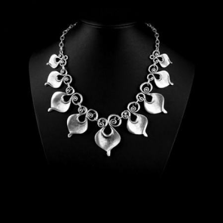 Turkish Pewter Heart Necklace
