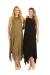 Layered Jersey Maxi Dress Black