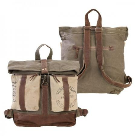 Roll Top Backpack Canvas Bag