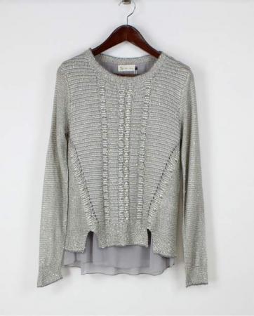 Sequin Chiffon Blouse Grey
