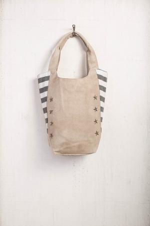 Star Studded Canvas Tote Bag